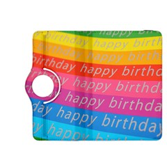 Colorful Happy Birthday Wallpaper Kindle Fire HDX 8.9  Flip 360 Case