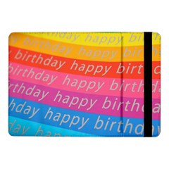 Colorful Happy Birthday Wallpaper Samsung Galaxy Tab Pro 10.1  Flip Case