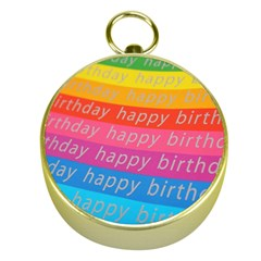Colorful Happy Birthday Wallpaper Gold Compasses