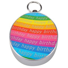 Colorful Happy Birthday Wallpaper Silver Compasses