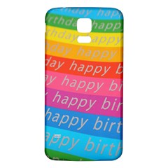 Colorful Happy Birthday Wallpaper Samsung Galaxy S5 Back Case (White)