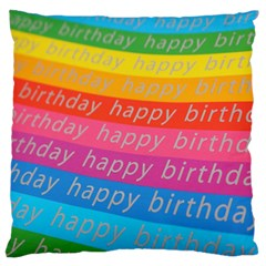 Colorful Happy Birthday Wallpaper Standard Flano Cushion Case (Two Sides)