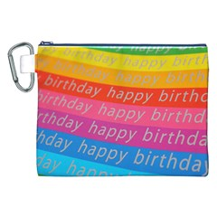 Colorful Happy Birthday Wallpaper Canvas Cosmetic Bag (XXL)