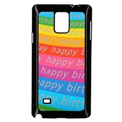 Colorful Happy Birthday Wallpaper Samsung Galaxy Note 4 Case (Black)