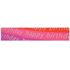 Colorful Happy Birthday Wallpaper Flano Scarf (large)
