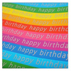 Colorful Happy Birthday Wallpaper Large Satin Scarf (Square)