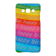 Colorful Happy Birthday Wallpaper Samsung Galaxy A5 Hardshell Case