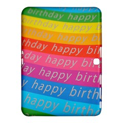 Colorful Happy Birthday Wallpaper Samsung Galaxy Tab 4 (10 1 ) Hardshell Case