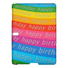 Colorful Happy Birthday Wallpaper Samsung Galaxy Tab S (10.5 ) Hardshell Case