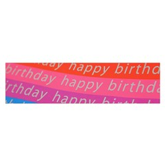 Colorful Happy Birthday Wallpaper Satin Scarf (oblong)