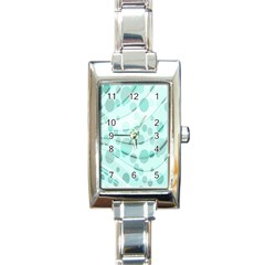 Abstract Background Teal Bubbles Abstract Background Of Waves Curves And Bubbles In Teal Green Rectangle Italian Charm Watch