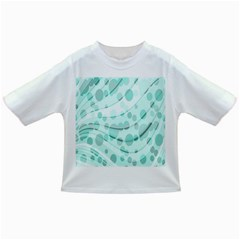 Abstract Background Teal Bubbles Abstract Background Of Waves Curves And Bubbles In Teal Green Infant/toddler T Shirts
