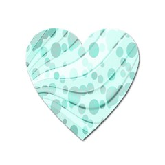 Abstract Background Teal Bubbles Abstract Background Of Waves Curves And Bubbles In Teal Green Heart Magnet