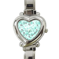 Abstract Background Teal Bubbles Abstract Background Of Waves Curves And Bubbles In Teal Green Heart Italian Charm Watch