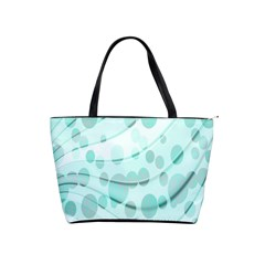 Abstract Background Teal Bubbles Abstract Background Of Waves Curves And Bubbles In Teal Green Shoulder Handbags