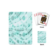 Abstract Background Teal Bubbles Abstract Background Of Waves Curves And Bubbles In Teal Green Playing Cards (Mini)