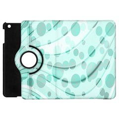 Abstract Background Teal Bubbles Abstract Background Of Waves Curves And Bubbles In Teal Green Apple iPad Mini Flip 360 Case