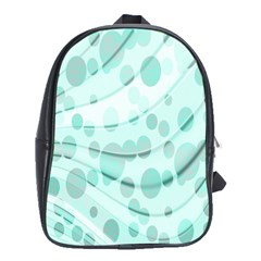 Abstract Background Teal Bubbles Abstract Background Of Waves Curves And Bubbles In Teal Green School Bags (XL)