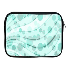 Abstract Background Teal Bubbles Abstract Background Of Waves Curves And Bubbles In Teal Green Apple iPad 2/3/4 Zipper Cases