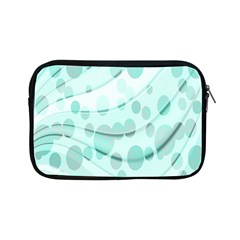 Abstract Background Teal Bubbles Abstract Background Of Waves Curves And Bubbles In Teal Green Apple Ipad Mini Zipper Cases