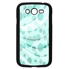 Abstract Background Teal Bubbles Abstract Background Of Waves Curves And Bubbles In Teal Green Samsung Galaxy Grand DUOS I9082 Case (Black)
