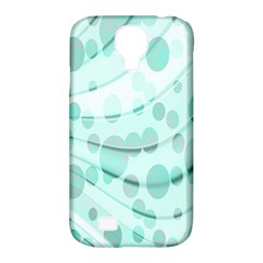 Abstract Background Teal Bubbles Abstract Background Of Waves Curves And Bubbles In Teal Green Samsung Galaxy S4 Classic Hardshell Case (PC+Silicone)
