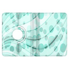 Abstract Background Teal Bubbles Abstract Background Of Waves Curves And Bubbles In Teal Green Kindle Fire HDX Flip 360 Case