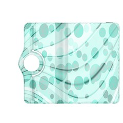 Abstract Background Teal Bubbles Abstract Background Of Waves Curves And Bubbles In Teal Green Kindle Fire Hdx 8 9  Flip 360 Case