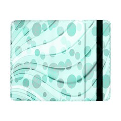 Abstract Background Teal Bubbles Abstract Background Of Waves Curves And Bubbles In Teal Green Samsung Galaxy Tab Pro 8.4  Flip Case