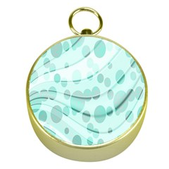 Abstract Background Teal Bubbles Abstract Background Of Waves Curves And Bubbles In Teal Green Gold Compasses