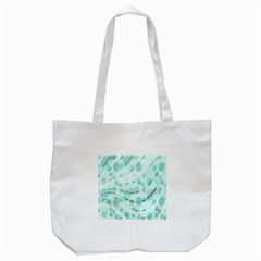 Abstract Background Teal Bubbles Abstract Background Of Waves Curves And Bubbles In Teal Green Tote Bag (White)