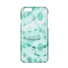 Abstract Background Teal Bubbles Abstract Background Of Waves Curves And Bubbles In Teal Green Apple iPhone 6/6S Hardshell Case