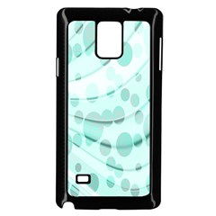 Abstract Background Teal Bubbles Abstract Background Of Waves Curves And Bubbles In Teal Green Samsung Galaxy Note 4 Case (Black)