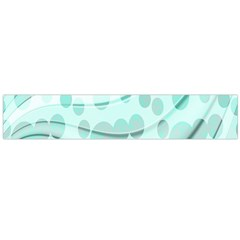 Abstract Background Teal Bubbles Abstract Background Of Waves Curves And Bubbles In Teal Green Flano Scarf (Large)