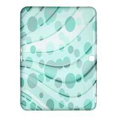 Abstract Background Teal Bubbles Abstract Background Of Waves Curves And Bubbles In Teal Green Samsung Galaxy Tab 4 (10.1 ) Hardshell Case