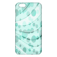 Abstract Background Teal Bubbles Abstract Background Of Waves Curves And Bubbles In Teal Green iPhone 6 Plus/6S Plus TPU Case