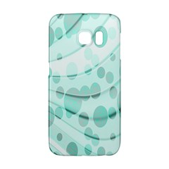 Abstract Background Teal Bubbles Abstract Background Of Waves Curves And Bubbles In Teal Green Galaxy S6 Edge