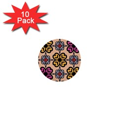 Abstract Seamless Background Pattern 1  Mini Buttons (10 pack)
