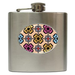 Abstract Seamless Background Pattern Hip Flask (6 Oz)