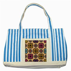 Abstract Seamless Background Pattern Striped Blue Tote Bag