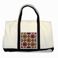 Abstract Seamless Background Pattern Two Tone Tote Bag
