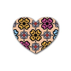 Abstract Seamless Background Pattern Heart Coaster (4 Pack)