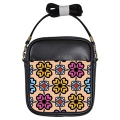 Abstract Seamless Background Pattern Girls Sling Bags
