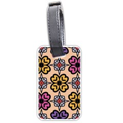 Abstract Seamless Background Pattern Luggage Tags (One Side)
