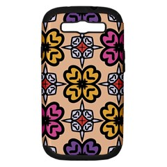 Abstract Seamless Background Pattern Samsung Galaxy S III Hardshell Case (PC+Silicone)