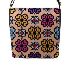 Abstract Seamless Background Pattern Flap Messenger Bag (L)
