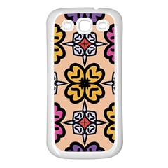 Abstract Seamless Background Pattern Samsung Galaxy S3 Back Case (White)
