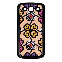 Abstract Seamless Background Pattern Samsung Galaxy S3 Back Case (Black)