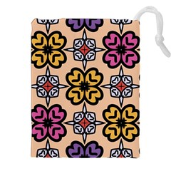 Abstract Seamless Background Pattern Drawstring Pouches (xxl)