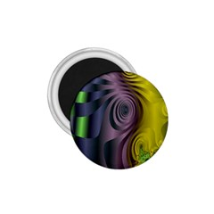 Fractal In Purple Gold And Green 1.75  Magnets